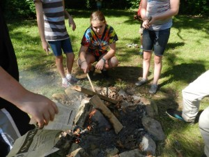 Environmental Education - Teaching how to build a fire